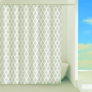Tenda doccia Araldica in poliestere beige L 120 x H 200 cm