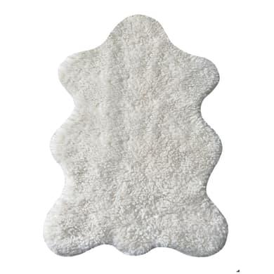 Tappeto CUTIE in poliestere, bianco, 60x90