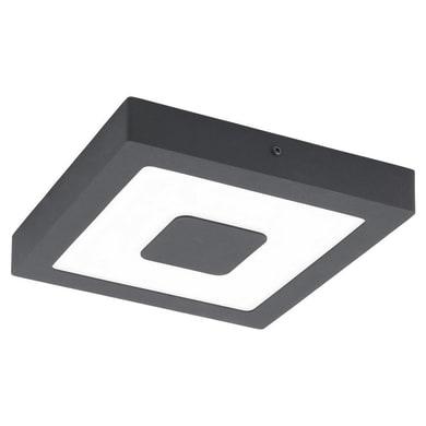 Plafoniera Iphias nero LED integrato in fusione di alluminio, nero, 16.5W 1700LM IP44 EGLO