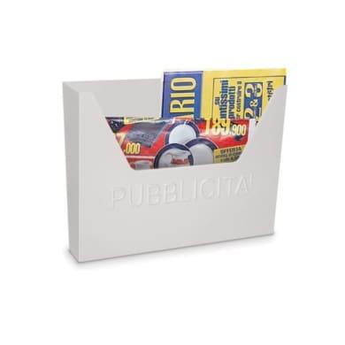 Cassetta porta pubblicità colore bianco