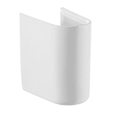 Semicolonna debba H 33 cm in ceramica bianco