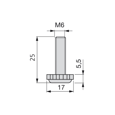 Cilindro di regolazione Ø 17 mm