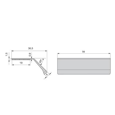 Maniglia per mobile in alluminio anodizzato EMUCA interasse 94 mm, 20 pezzi
