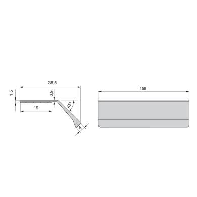 Maniglia per mobile in alluminio anodizzato EMUCA interasse 158 mm, 20 pezzi