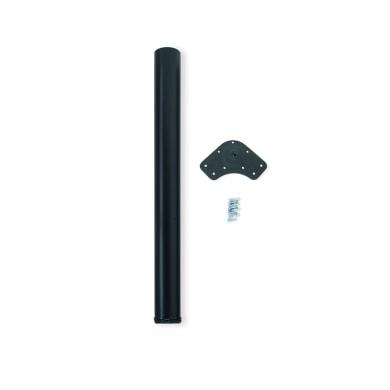 Gamba mobili EMUCA acciaio nero verniciato Ø 60 mm x H 89 cm
