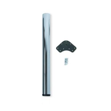 Gamba mobili EMUCA acciaio grigio verniciato  H 130 cm
