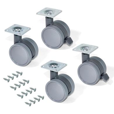 Rotella per mobili EMUCA Bowl in plastica Ø 50 cm 4 pezzi