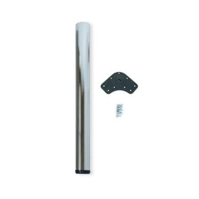 Gamba mobili EMUCA acciaio grigio satinato  H 74 cm