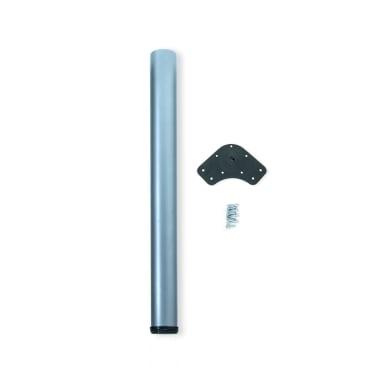 Gamba mobili EMUCA acciaio grigio verniciato  H 74 cm