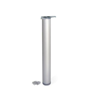 Gamba mobili EMUCA alluminio grigio anodizzato  H 85 cm
