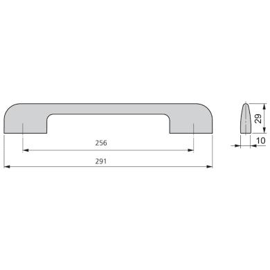 Maniglia per mobile in alluminio cromato EMUCA interasse 256 mm, 20 pezzi