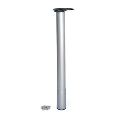 Gamba mobili EMUCA acciaio grigio verniciato  H 80 cm
