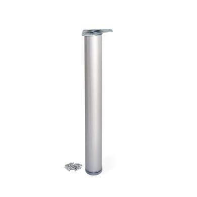 Gamba mobili EMUCA alluminio grigio anodizzato  H 89 cm