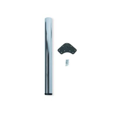 Gamba mobili EMUCA acciaio grigio cromato  H 74 cm