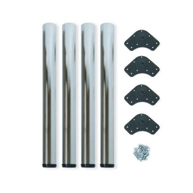 Gamba mobili EMUCA acciaio grigio satinato Ø 60 mm x H 85 cm 4 pezzi