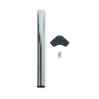 Gamba mobili EMUCA acciaio grigio satinato  H 90 cm