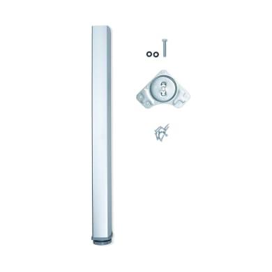 Gamba mobili EMUCA alluminio grigio anodizzato  H 73 cm