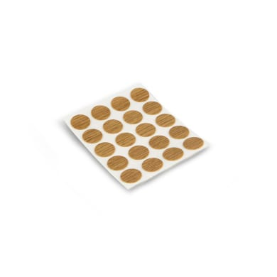 Coprivite Tondo in plastica marrone 200 pezzi