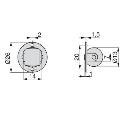 Rotella per mobili EMUCA in acciaio Ø 13 cm  20 pezziRotella per mobili EMUCA in acciaio Ø 13 cm  20 pezzi
