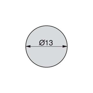 Coprivite Tondo in plastica grigio / argento 200 pezzi