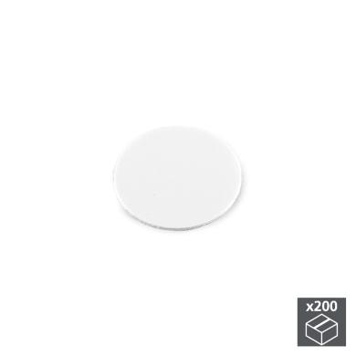 Coprivite Tondo in plastica bianco 200 pezzi