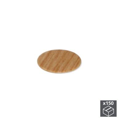 Coprivite Tondo in plastica marrone 150 pezzi