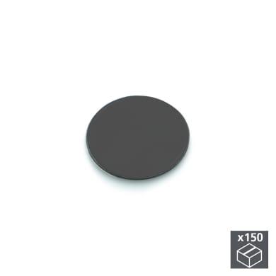 Coprivite Tondo in plastica grigio / argento 150 pezzi