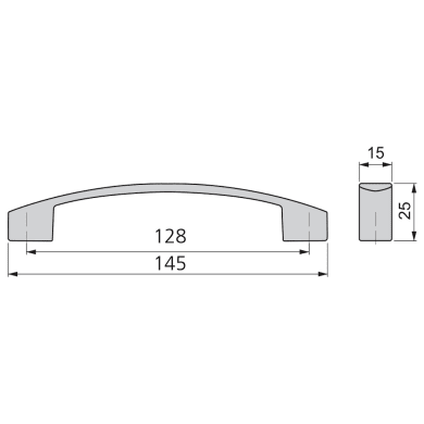 Maniglia per mobile in zama dipinto EMUCA interasse 128 mm