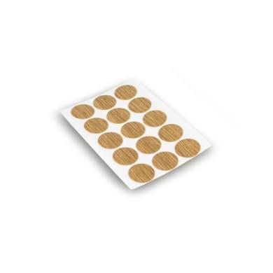Coprivite Tondo in plastica marrone 900 pezzi