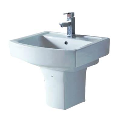 Colonna per lavabo piettra H 26 cm in ceramica bianco
