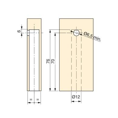 Cilindro di regolazione Ø 14 mm
