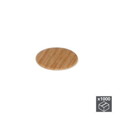 Coprivite Tondo in plastica marrone 1000 pezzi