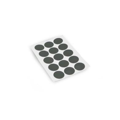 Coprivite Tondo in plastica grigio / argento 900 pezzi
