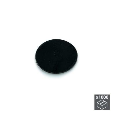 Coprivite Tondo in plastica nero 1000 pezzi