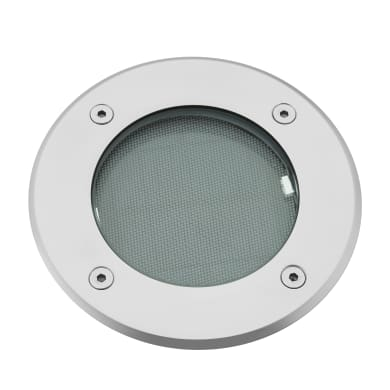 Faretto a incasso esterno solare Demba argento luce bianco freddo diam.13cm 13x5.6cm 0.22W 20LM IP67 INSPIRE