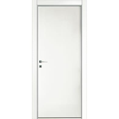 Porta a battente Oxford bianco laccato L 80 x H 210 cm reversibile