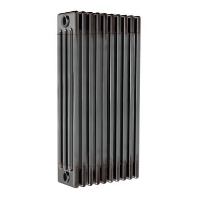 Radiatore acqua calda ERCOS grigio/acciaio grezzo aspetto lucido in acciaio 10 elementi interasse 62,3 cm