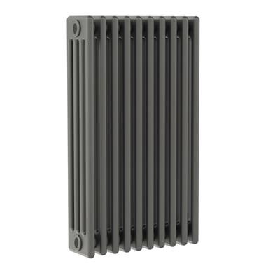 Radiatore acqua calda ERCOS grigio ferro satinato in acciaio 10 elementi interasse 62,3 cm