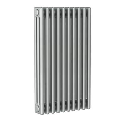Radiatore acqua calda ERCOS grigio titanio satinato in acciaio 10 elementi interasse 62,3 cm