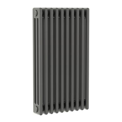 Radiatore acqua calda ERCOS grigio ferro satinato in acciaio 10 elementi interasse 81,3 cm