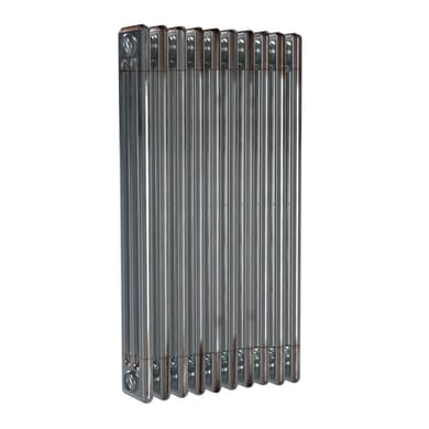 Radiatore acqua calda ERCOS grigio/acciaio grezzo aspetto lucido in acciaio 10 elementi interasse 53,5 cm
