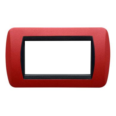 Placca Living International CAL 4 moduli rosso