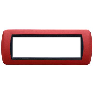 Placca Living International CAL 7 moduli rosso