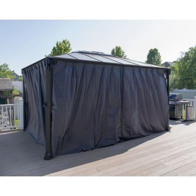 Tenda per gazebo Martinique grigio L 217 x H 420 cm