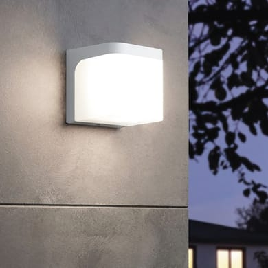 Applique Jorba LED integrato in alluminio, bianco, 6W 500LM IP44 EGLO