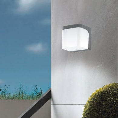 Applique Jorba LED integrato in alluminio, nero, 6W 500LM IP44 EGLO