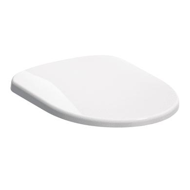 Copriwater ovale Originale per serie sanitari Sedile Selnova con cerniere cromate duroplast bianco
