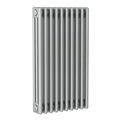Radiatore acqua calda ERCOS grigio titanio satinato in acciaio 10 elementi interasse 53,5 cm