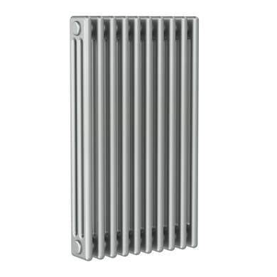 Radiatore acqua calda ERCOS grigio titanio satinato in acciaio 10 elementi interasse 81,3 cm