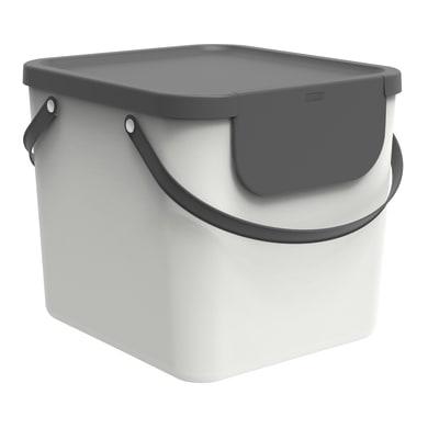 Pattumiera per raccolta differenziata Albula ROTHO manuale bianco 40 L